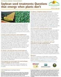 Soybean Seed Treatments: Questions that Emerge When Soybean Plants Don't