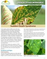 Developing an Integrated Management Plan for Soybean Sudden Death Syndrome (SDS)