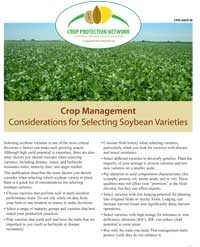Considerations for Selecting Soybean Varieties